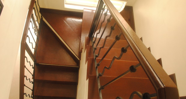 Stained Wooden Treads and Handrails