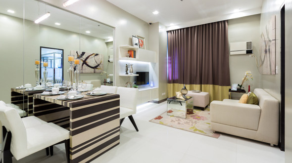 Actual Dining & Living Area of 1-Bedroom Model Unit